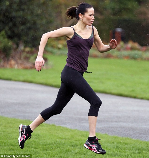 In training: Sophie is getting ready to run the London Marathon in April to raise funds to support The Childrens Trust