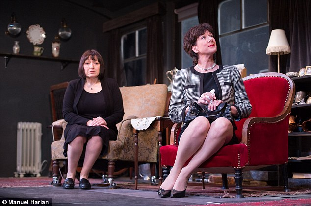 Gentle: Katharine Rogers, right, plays rich sister Renata in Sir Ronald Harwood's Equally Divided