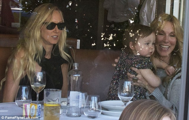 Love is all around: Kimberly dined with her mother Alana Stewart at E Baldi in Beverly Hills