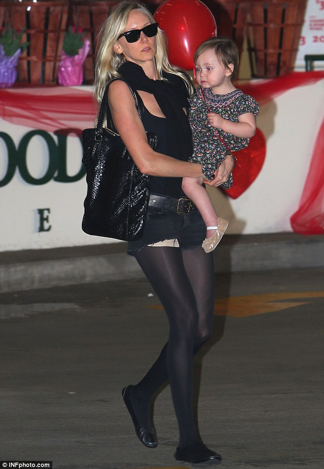 All I need is you: Kimberly Stewart stepped out with her daughter Delilah Del Toro in Los Angeles in Thursday