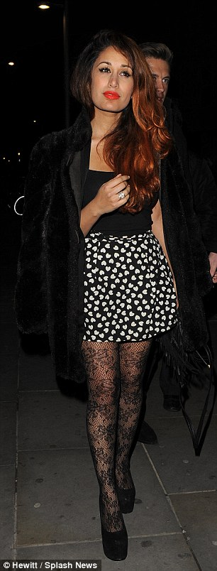 Going home alone? Preeya leaves the club with her boyfriend in tow, although single Jamelia leaves by herself