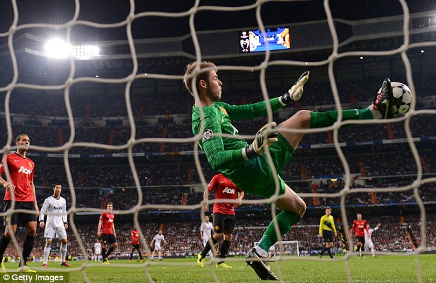 Praised: David de Gea was lauded by Sir Alex Ferguson for his performance against Real Madrid