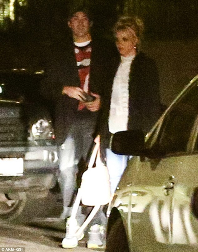 Valentine's date: Britney and her everyday Dave dined at Banzai Sushi in Calabasas on Thursday night