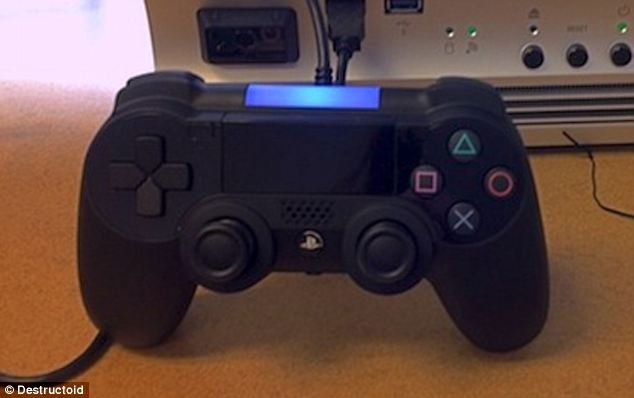 Touch me: This apparently leaked image purports to show the controller for the hotly anticipated PlayStation 4, which Sony is expected to announce at an event to be held in New York City next Wednesday