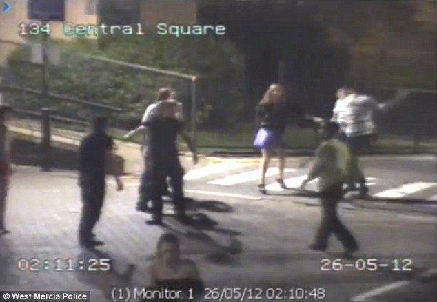 West Mercia police have release the shocking CCTV in a bid to catch those involved