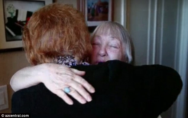 Emotional meeting: The sisters were put in touch last October via the Children's Home Society of Virginia but until this week they had not met in person