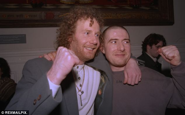 Hickey (right) with his cousin Michael who was also wrongly convicted in 1979