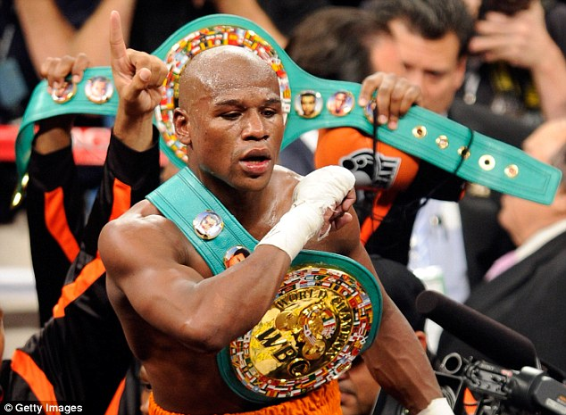 Out in the open: Floyd Mayweather Jnr was sport's highest-earner in 2012 according to Forbes' rich-list, with the boxing raking in £54.25m