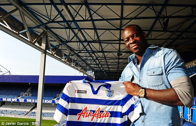 Transfer dealings: Queens Park Rangers signed Christopher Samba from Anzhi Makhachkala for £12.5million in January