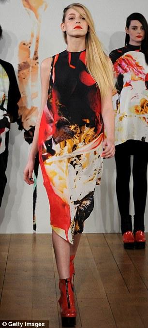 Delicate: Jena.Theo's pretty sand-blasted silk print dresses impressed the critics