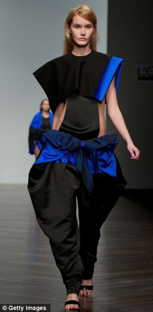Baggy trousers! Designs from the Central St Martin's MA catwalk show