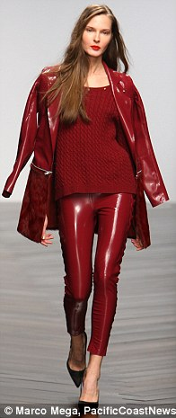 Along with neutrals, the show featured plenty of wine hued pieces