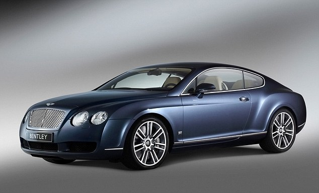 Crash: Nani's Bentley Continental, like the car above, was involved in the collision (stock image)