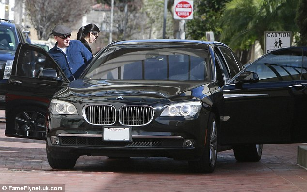 Nice ride: The pair were later seen getting into the star's black BMW
