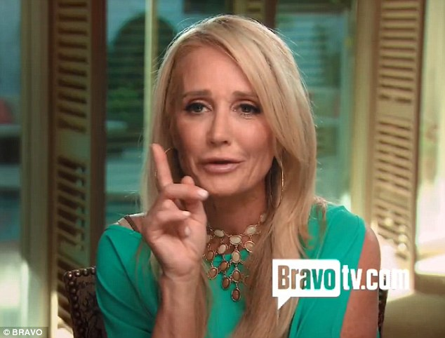 Deeply worried: During the episode Kim Richards revealed that she was worried about Taylor after the reality star called her 'slurring'