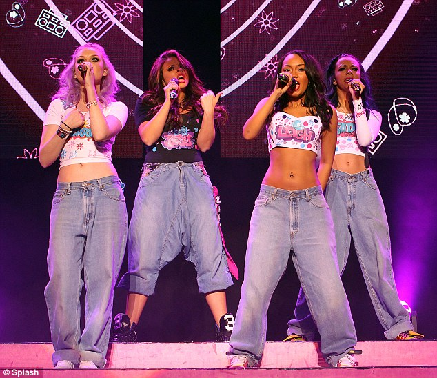 Just in case the audience forget: Little Mix took to the stage at the Brighton Centre on Friday evening sporting graffiti style crop top embellished with their names