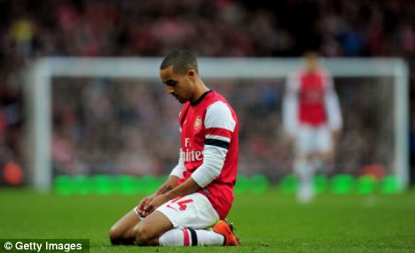 A long wait: Arsenal are now almost eight years without a trophy and