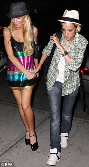 Hand in hand: Lindsay Lohan and former girlfriend Samantha Ronson are pictured in New York in 2008 .