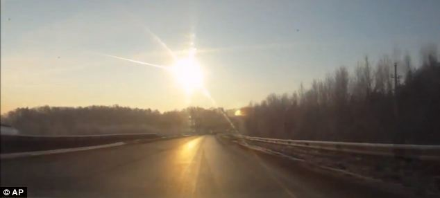 Local residents said they witnessed burning objects in the sky of the Chelyabinsk and Sverdlovsk regions