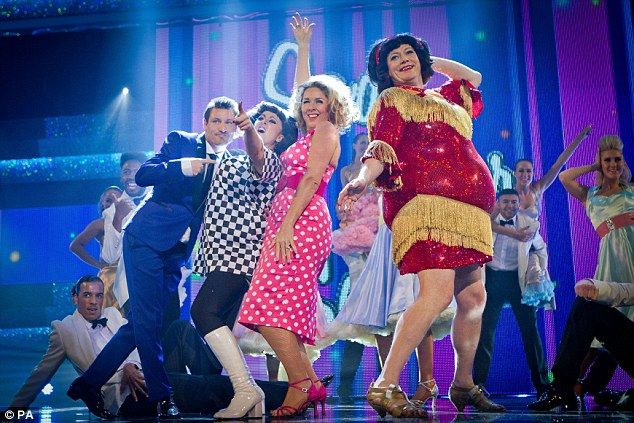 Back to work: On Saturday evening Dean took part in Let's Dance for Comic Relief