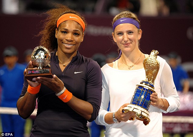 Consolation: New World No 1 Williams was made to settle for the runners-up trophy