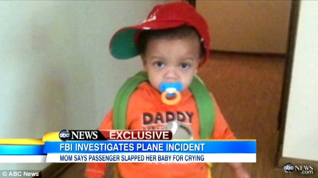 Victim: Jonah Bennett's mother says that the boy began crying because he was feeling 'the pressure in his ears' as the plane began to land