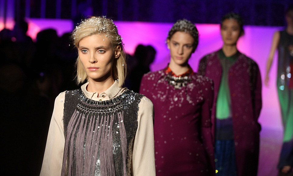 Stellar night: Ethereal and snowy, the catwalk was a fusion of winter wonderland and night-time Navajo