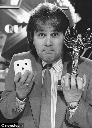 Quiz show master David St John on the set of Star Quality in 1990.