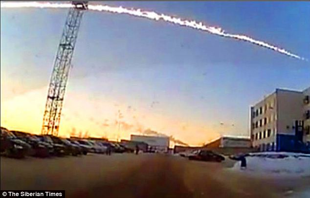 Terrifying: Almost 1,200 people were injured when the meteor burst through the Earth's atmosphere at a speed of 46,000mph on Friday