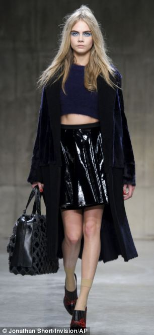 Cara Delevinge in the Topshop Unique show has captured the collective imaginations of the fashion world