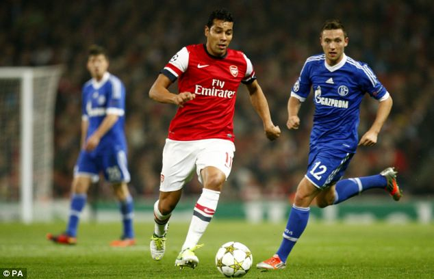 Abject: Andre Santos (left) was so bad he has left Arsenal on loan just a year after joining for £7m