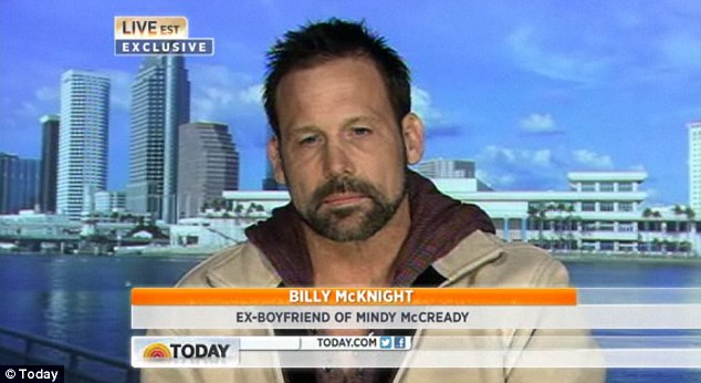 Billy McKnight said: 'As sad as it is, it didn¿t come as a major shock, because she¿s just been battling demons for so long. I was around her when she attempted suicide twice, so I knew it was in her'