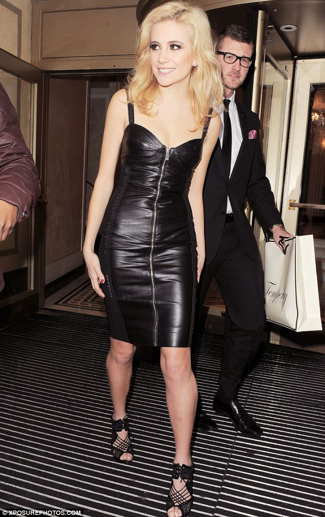 Stealing the show: Pixie Lott wowed in leather at Temperley London on Sunday