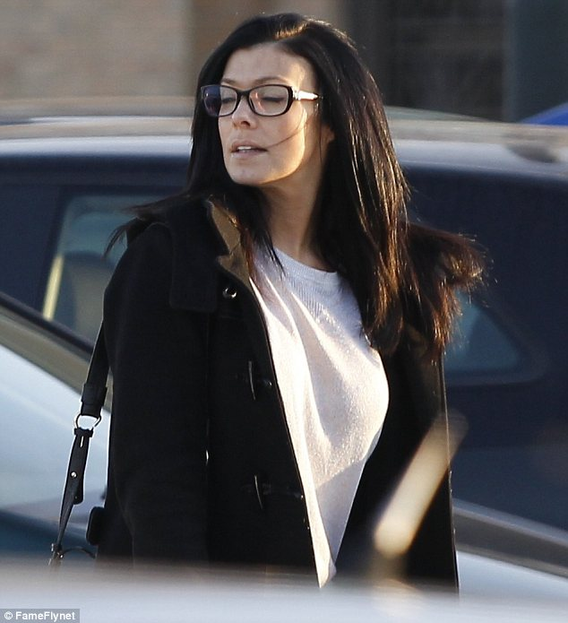 Fresh: Make-up free, the actress skin looked clear and bright on the winter's afernoon