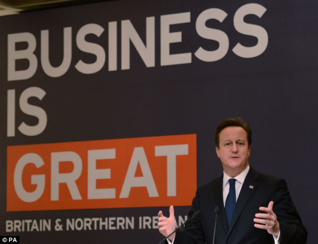 David Cameron announced the new visa service and relaxed immigration riles as he speaks n Mumbai, India