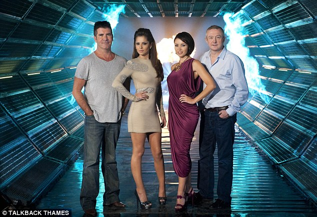 Old line-up: Both Simon and Cheryl are no longer part of the show, which is a line-up Rob misses