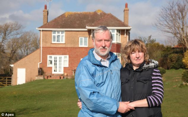 John and Chris Radford have lived in their home in Sidmouth, Devon for 45 years and are worried it will soon collapse