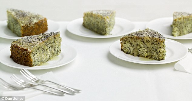 Delia Smith's lemon drizzle cake with poppy seeds