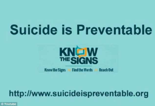 Awareness; The last frame includes contact information for suicideispreventable.org. It had been intended to be used as a PSA