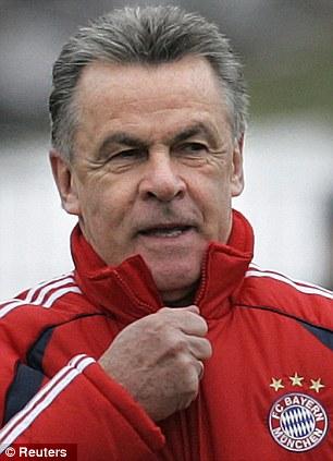 Ottmar Hitzfeld as Bayern Munich coach