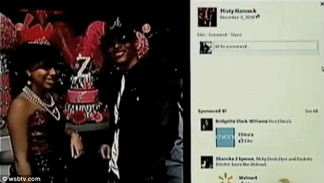 The Facebook message about her son's death came from someone named 'Misty Hancock' whose profile picture featured Atlanta rapper T.I.