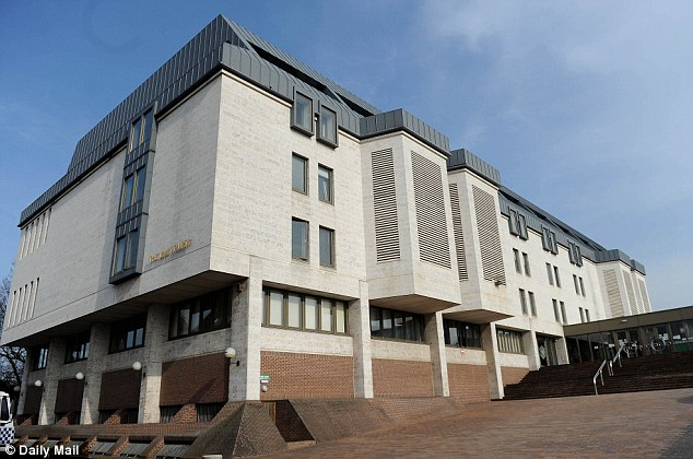 Worrying: Maidstone Crown Court, pictured, was told that Mr Ashfield appeared in the hallway of his home with a double barrel shotgun
