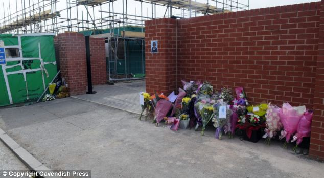 Tributes at the scene where Semelia died tragically