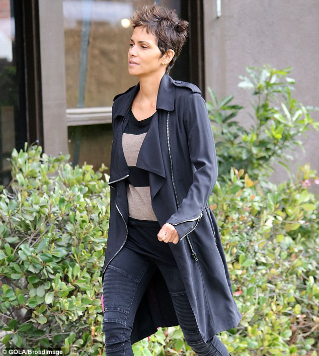 Working mom: Halle seems to effortlessly juggle work and parenting