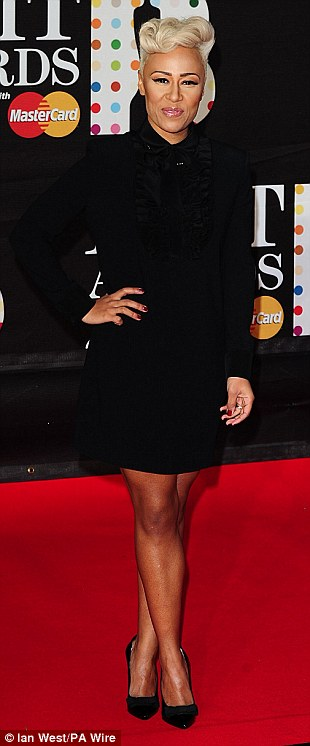 Ready to party: Emeli Sande, Rebecca Ferguson and Jessie Ware also seemed to be in keeping with the black trend on the night as they walked into the O2 Arena