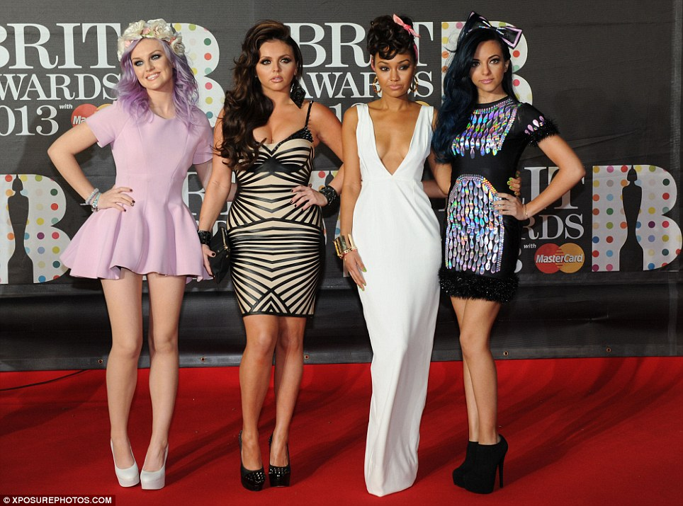 Mixing it up: Little Mix wore an array of different outfits to the bash, showing off their different elegant and quirky looks for the big night