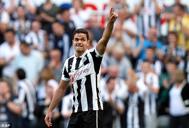 On the way back: Alan Pardew confirmed that Hatem Ben Arfa has resumed training with the squad