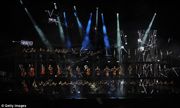 Grand opening: Muse were backed by a full string orchestra