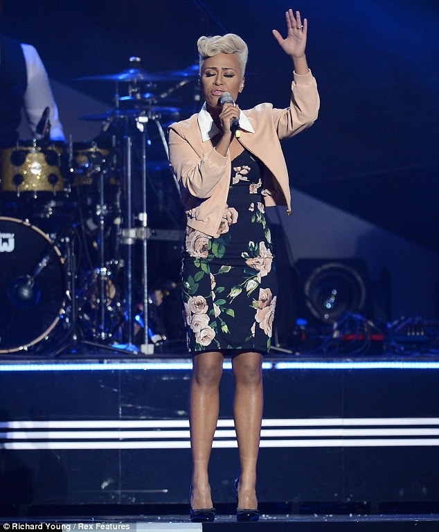 Lady of the night: Emeli Sande, who also picked up two gongs, impressed as she brought the ceremony to a close by belting out her voice