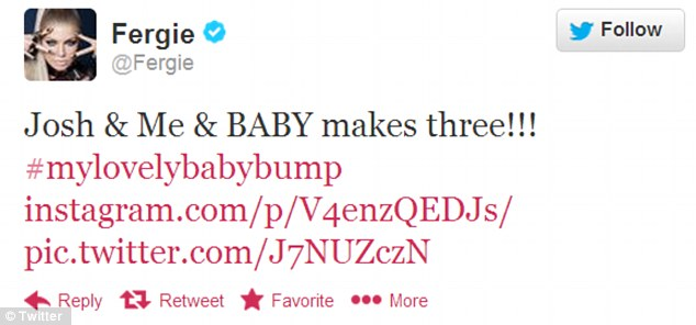 Big announcement: Fergie shared her pregnancy news with fans on Twitter on Monday
